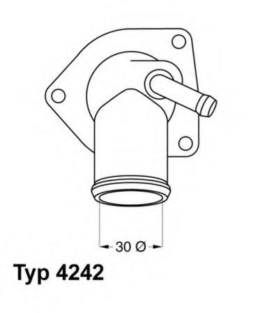 424292D WAHLER Термостат, охлаждающая жидкость