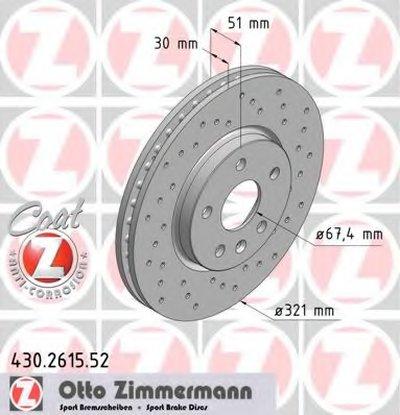 430261552 ZIMMERMANN Диск тормозной