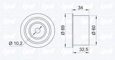 Ролик обв.ГРМ Subaru Forester/Legacy 1.6-2.0T 97-> IPD 150647 для авто SUBARU с доставкой-1