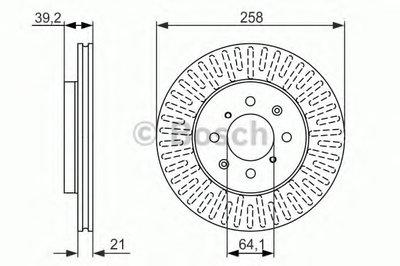 BOSCH 0986479594 Тормозной диск