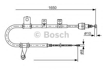 Гальмівний трос 1650mm HYUNDAI Matrix ''RL  ''01-10