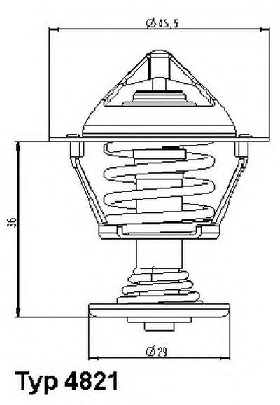 482189D WAHLER Термостат, охлаждающая жидкость