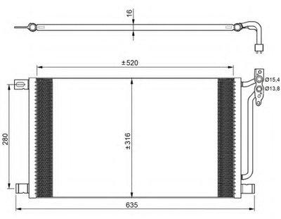 Nrf 35748_Радиатор Кондиционера ! Bmw E46 2.0D-3.0D 98 NRF 35748 для авто BMW с доставкой
