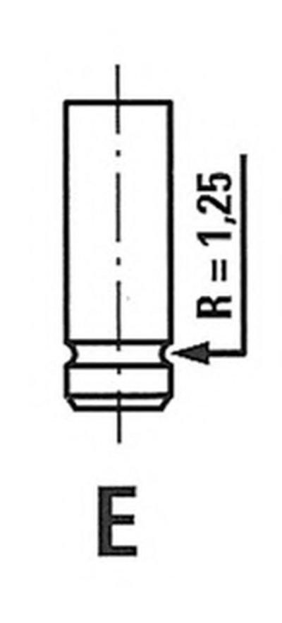 Клапан двигуна FRECCIA R3448R