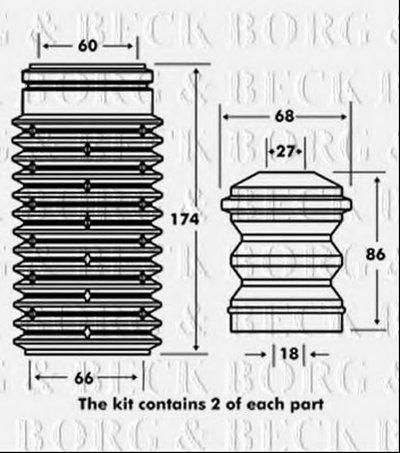 Пылезащитный комплект, амортизатор BORG & BECK купить