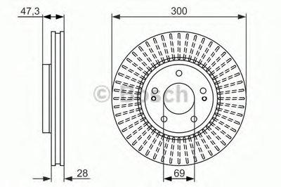 Гальмівний диск HYUNDAI Tucson/Sonata/ix35 '' F ''2,0i-2,0CRDI ''04>>
