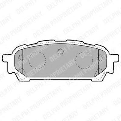 Колодки Тормозные Дисковые DELPHI LP1822 для авто SUBARU с доставкой
