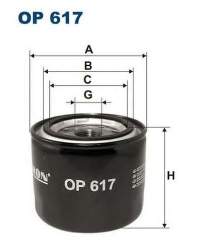 OP617 FILTRON Масляный фильтр