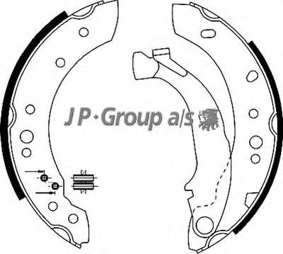 Комплект тормозных колодок QH JP GROUP купить