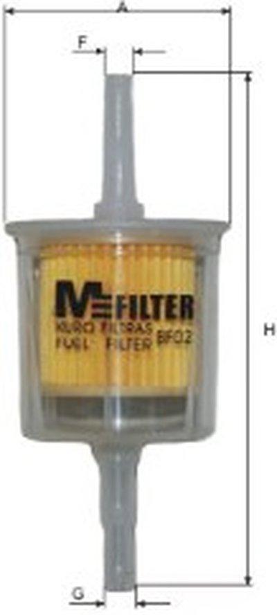 BF02 MFILTER Топливный фильтр -1