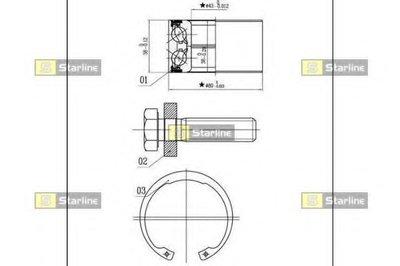 Комплект подшипника ступицы колеса