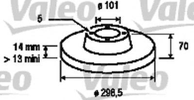 Тормозной диск VALEO купить