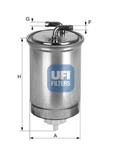 2436500 UFI Топливный фильтр