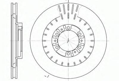 Диск тормозной PAJERO SPORT 02- передн. (пр-во REMSA)