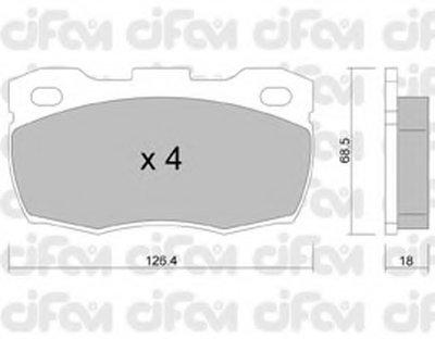 Комплект тормозных колодок, дисковый тормоз CIFAM купить