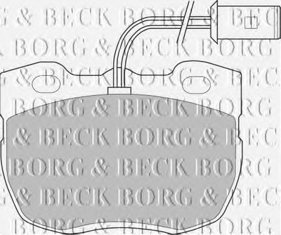 Комплект тормозных колодок, дисковый тормоз BORG & BECK купить