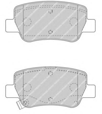 FERODO FDB4411 Тормозные колодки дисковые