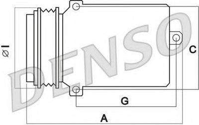 DENSO DCP17023 Компрессор