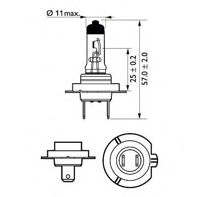 Лампа накаливания, фара дальнего света; Лампа накаливания, основная фара; Лампа накаливания, противотуманная фара; Лампа накаливания; Лампа накаливания, основная фара; Лампа накаливания, фара дальнего света; Лампа накаливания, противотуманная фара; Лампа накаливания, фара с авт. системой стабилизации; Лампа накаливания, фара с авт. системой стабили Vision PHILIPS купить