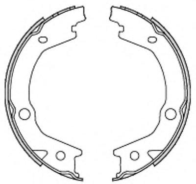 Колодка торм. барабан. HYUNDAI TUCSON 2.0 2.7 04-;KIA SPORTAGE 2.0 2.7 04- (пр-во Remsa)