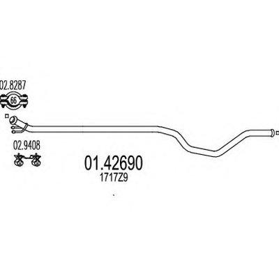 0142690 MTS Промежуточная труба выхлопной системи