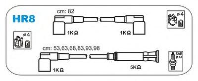 К-кт проводів Bmw 6CYL, 3,0 JANMOR HR8 для авто BMW с доставкой
