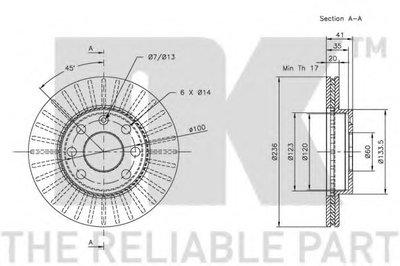 203608 NK Тормозной диск -2