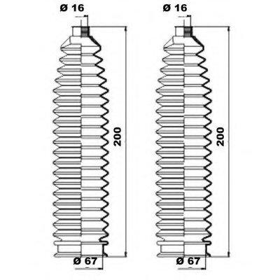 K150223 MOOG Комплект пылника, рулевое управление -1