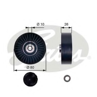 Паразитный / ведущий ролик, поликлиновой ремень DriveAlign® GATES купить