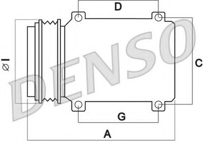 DENSO DCP50041 Компрессор