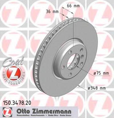 Диск тормозной левый Coat Z