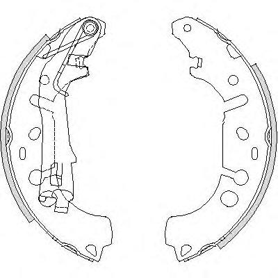 Колодка торм. барабан. OPEL CORSA D 1.0-1.4 06-,FIAT GRANDE PUNTO 1.3-1.4 05- (пр-во Remsa)