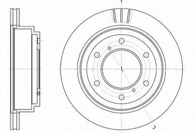 Диск тормозной MITSUBISHI PAJERO III 2.5TD задн. (пр-во REMSA)