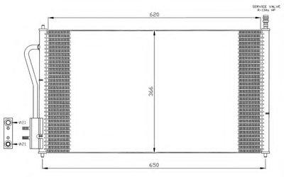 Радиатор Кондиционера NRF 35345 для авто FORD с доставкой