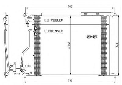 Конденсатор Кондиционера NRF 35578 для авто MERCEDES-BENZ с доставкой