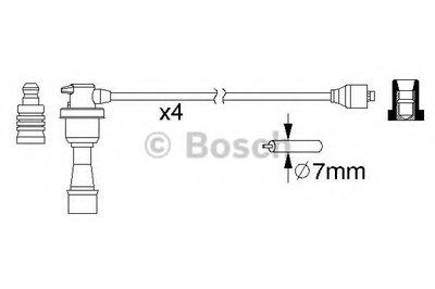 0986357151 BOSCH Комплект проводов зажигания