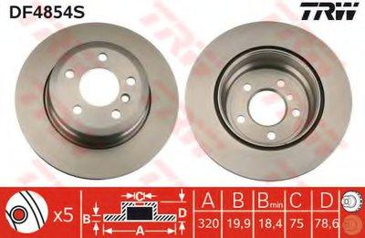 """Диск гальмівний BMW X5/X6 """"R D=320mm """"07>>"""