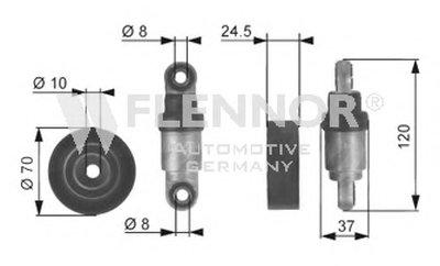 Амортизатор, поликлиновой ремень FLENNOR купить