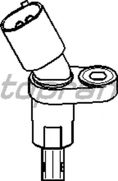 109755 TOPRAN Датчик, частота вращения колеса