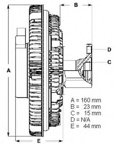 Вискомуфта Mercedes Sprinter 95- BERU LK051 для авто MERCEDES-BENZ с доставкой