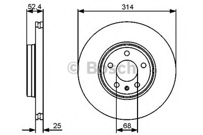 """Гальмівний диск AUDI A4/A5 F """"07>>"""