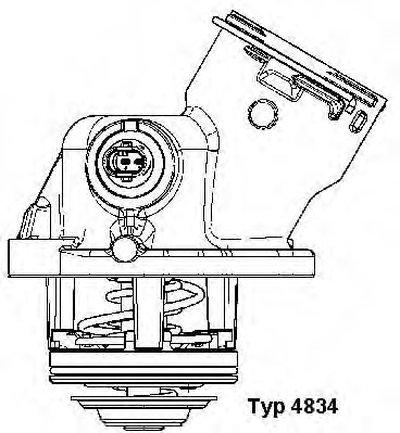 4834100D WAHLER Термостат, охлаждающая жидкость -1