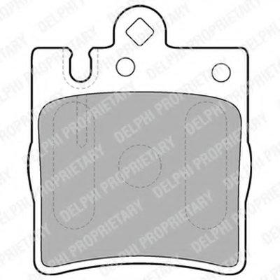 Колодки Тормозные Дисковые DELPHI LP1618 для авто MERCEDES-BENZ, OPEL с доставкой