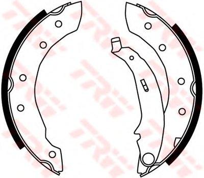 Гальмівні колодки барабанні CITROEN/PEUGEOT/RENAULT Saxo/Xsara/ZX/106/206/306/306 Cabrio/Clio/C