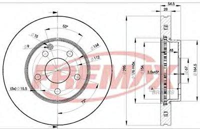 Тормозной Диск FREMAX BD0812 для авто MERCEDES-BENZ с доставкой