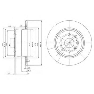 BG2637 DELPHI Тормозной диск