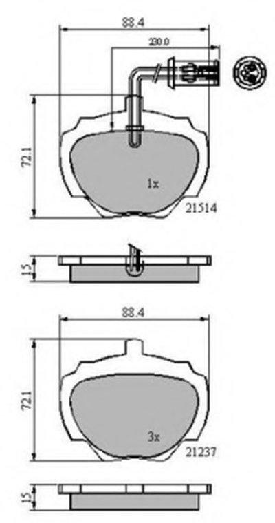 Комплект тормозных колодок, дисковый тормоз NATIONAL купить