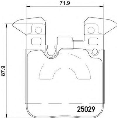 Комплект тормозных колодок, дисковый тормоз BREMBO купить
