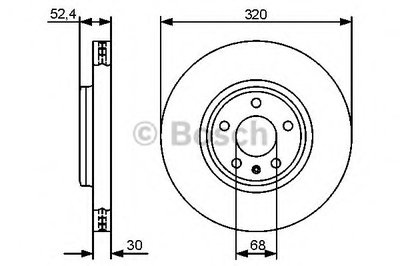 "Гальмівний диск AUDI A4/A5/Q5 ""F ""D=320mm ""08>>"