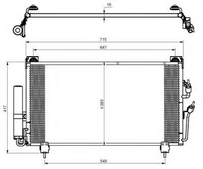 Конденсатор, кондиционер NRF 35755 для авто MITSUBISHI с доставкой